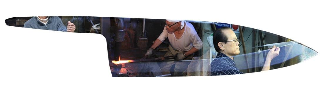 堺打刃物 和包丁 分業 鍛冶 刃付 柄付け2